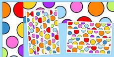 Multicoloured Polka Dot Display Borders