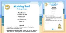 Moulding Sand Playdough Recipe