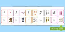 Zahlen 1-20 Quartett Kartenspiel