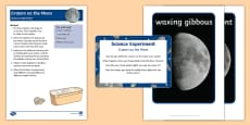 EYFS Craters on the Moon Science Experiment and Prompt Card Pack