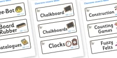 Lemur Themed Editable Drawer-Peg-Name Labels