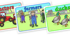 Editable Class Group Signs (On the Farm)