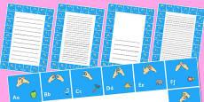 British Sign Language Alphabet Writing Frame