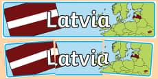 Latvia Display Banner