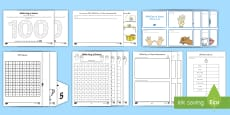 100th Day of School K-2 Math Resource Pack