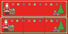Christmas Themed Editable Display Banner