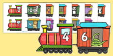 Number Bonds to 10 on Trains and Carriages