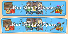 Our Singing Space Display Banner