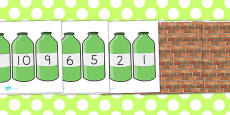 Australia - Ten Green Bottles Cut Outs