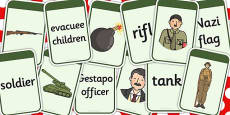 World War Two Matching Flashcards