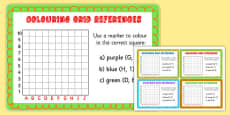 Colouring Grid References Maths Challenge Cards