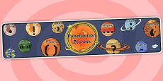 Punctuation Planets Space Display Banner