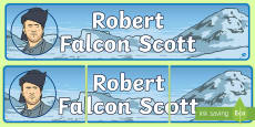 Robert Falcon Scott Display Banner