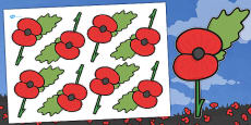 Australia - Remembrance Day Poppy Cut Outs