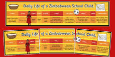 A Day in the Life of a Zimbawean School Child Timeline