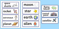 Spaceship Role Play Word Cards