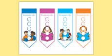 Literacy Themed Sticker Reward Bookmarks 15mm