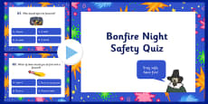Bonfire Night Safety Quiz PowerPoint