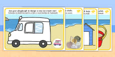 Seaside Playdough Mats Romanian Translation