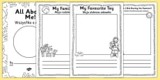 All About Me EYFS Transition Booklet Polish Translation