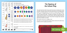 * NEW * KS1 Mystery at the Summerville School Play Maths Game