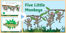 Five Little Monkeys Nursery Rhyme PowerPoint