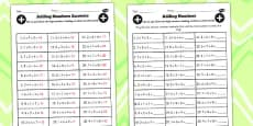 Adding Three One Digit Numbers Lesson 3 Using Smallest Numbers First Activity Sheet