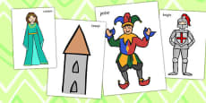 Castles and Knights Photo Cut Outs