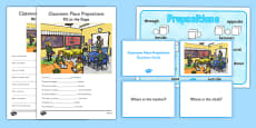 Classroom Place Prepositions Pack