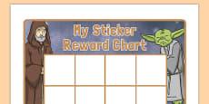 Space Wars Themed Sticker Reward Chart