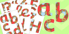 Teddy Bear Display Letters and Numbers Pack