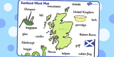 Scotland Word Mat