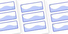Husky Themed Editable Drawer-Peg-Name Labels (Colourful)