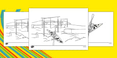 Rio 2016 Olympics Canoeing Colouring Sheets