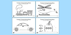 Aistear Transport Tracing Activity Sheets