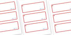 Ruby Themed Editable Drawer-Peg-Name Labels (Blank)