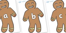 Phase 2 Phonemes on Gingerbread Men