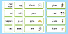 Jack and the Beanstalk Word Cards
