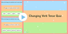 Changing Verb Tense by Adding  ed SPaG PowerPoint Quiz
