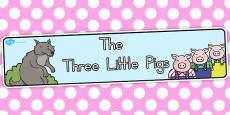 Australia - The Three Little Pigs Display Banner
