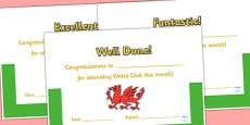 Welsh Club Certificates