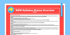 NSW Stage 2 History Syllabus Overview