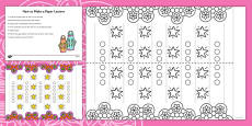 Diwali Paper Lantern Craft Templates