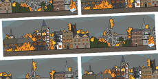 The Great Fire of London Small World Background