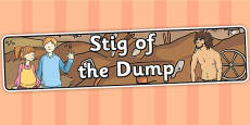 Stig of the Dump Display Banner