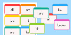 Dolch Word Flashcards Primer