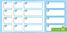Magpie Themed Editable Drawer-Peg-Name Labels (Blank)