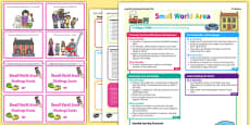 Small World Area Continuous Provision Plan Poster and Challenge Cards Pack Nursery FS1