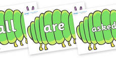 Tricky Words on Fat Caterpillars to Support Teaching on The Very Hungry Caterpillar