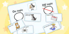 On Topic Off Topic Conversation Sorting Game Pets